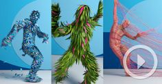 An In-Your-Face Motion Capture Dance Performance Amidst a Flurry of Feathers, Fur, and Particles
