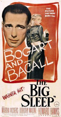 """""""El sueño eterno"""" (Howard Hawks, 1946) con Humphrey Bogart, Lauren Bacall y Martha Vickers"""