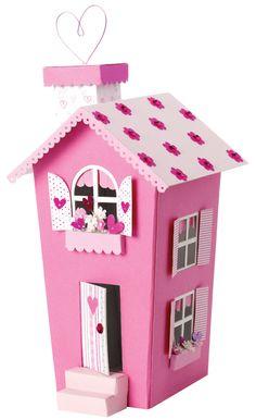 Pink 3D house