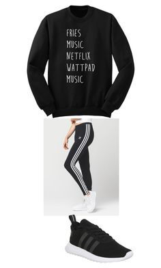"""Untitled #18"" by kennedy-lewis-1 on Polyvore featuring adidas"