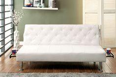 CM2668WH Farel Collection Futon Sofa