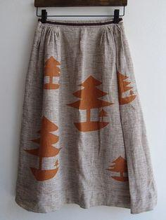 mori-no-umi skirt / purchase Actual / Mina perhonen old clothes purchase specialty store drop [drop]