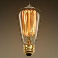 60 Watt - Edison Bulb - 5.3 in. Length - Vintage Light Bulb - Squirrel Cage Filament - Amber Tinted