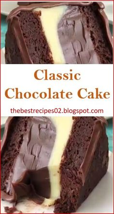 Here's The Best Classic Chocolate Cake Recipes, its easy and delicious recipes. Here's The Best Classic Chocolate Cake Recipes, its easy and delicious recipes. Classic Chocolate Cake Recipe, Chocolate Recipes, Simple Chocolate Cake, Best Chocolate Cake, Just Desserts, Delicious Desserts, Yummy Food, Food Cakes, Cupcake Cakes