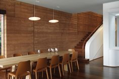 Rammed Earth Walls (KIRRIBILLI HOUSE Luigi Rosselli Architects)
