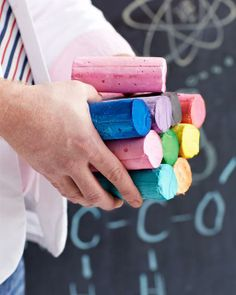 Keep the kids entertained and make your own sidewalk chalk for those hot summer days.