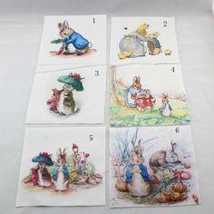 Cute Peter Rabbit Digital Prints Cotton Canvas Quilt Fabric DIY Home Decor New