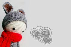 Kira canguro muñeco de ganchillo hecho con el patrón de Lalylala   Crochet amigurumi  www.desdelasnubes.com