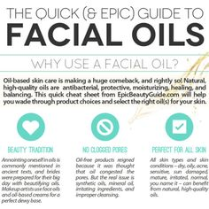 A Complete Guide to the Best Natural Face Oils [Infographic]