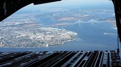 View of Downtown and the bridge from the back of a C-17 - Imgur