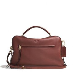 The Bleecker Large Toaster Satchel In Pebbled Leather from Coach