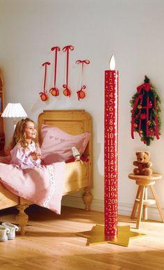 Cooler Adventskalender in Kerzenform. Während der Adventszeit schrumpft die…