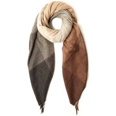 Paul Smith Camel Checked Blanket Scarf (4.655.230 IDR) ❤ liked on Polyvore featuring accessories, scarves, paul smith, paul smith scarves, patterned scarves, blanket scarf and print scarves