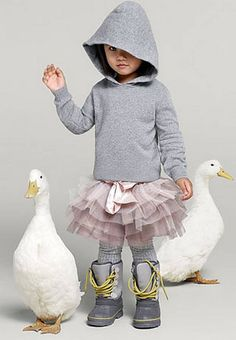 Cashmere and silk hoodie £55, tutu £30, tights £9.50, duck boots £40 - London Evening Standard