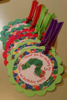 Very Hungry Caterpillar Birthday Favor Tags