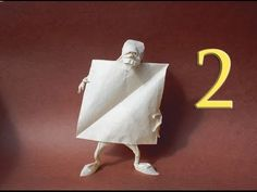 Origami Self-made man (Eric Joisel) Tutorial Part 1 - YouTube