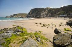 Good Beach Guide Recommended Trevaunance Cove is the main beach at St Agnes and a family best kept secret. North Cornwall, Cornwall England, Cornish Beaches, St Agnes, Family Days Out, Republic Of Ireland, Black Labrador, British Isles, Pictures To Draw