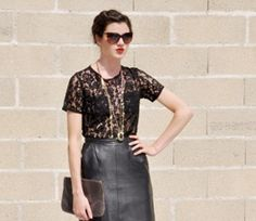 2010 - Les Composantes leather and lace