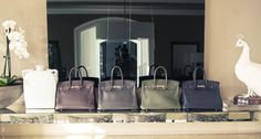 Monique Lhuillier has an enviable collection of Birkin Bags!
