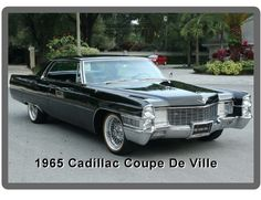 1965 Cadillac Coupe De Ville Hardtop Auto Refrigerator / Tool Box Magnet