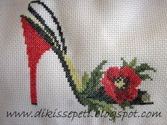 This Pin was discovered by Dik Cross Stitch Borders, Cross Stitch Flowers, Cross Stitching, Cross Stitch Patterns, Ribbon Embroidery, Cross Stitch Embroidery, Pach Aplique, Knit And Crochet Now, Palestinian Embroidery
