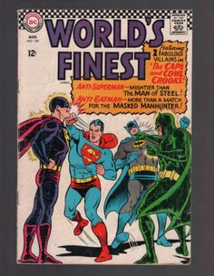 WORLDS FINEST COMICS 159 DC SUPERMAN BATMAN JUSTICE LEAGUE