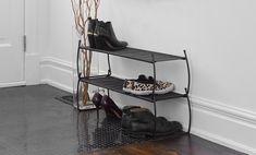 Stackable shoe rack will help create an organized entryway | Umbra Imelda Shoe Rack