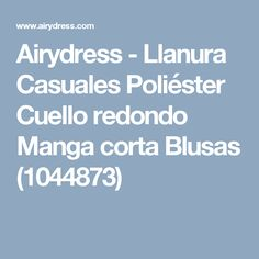 Airydress - Llanura Casuales Poliéster Cuello redondo Manga corta Blusas (1044873)