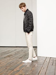 Zara Man Camouflage Faux Leather Bomber. A necessity