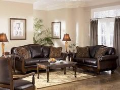 Image Result For Decorating With Brown Leather Furniture Pictures Loveseat  Sofa, Upholstered Sofa, Brown
