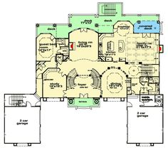 Palatial Estate with Grand Double Staircases - 13545BY | Architectural Designs - House Plans