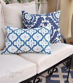 easy pillow covers (have to use this tutorial with the shower curtain from Target for the fabric