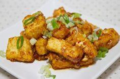 蒜味甜辣黃金豆腐
