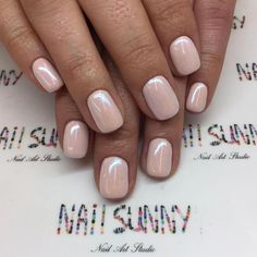 50 Trendy Nail Art Designs to Make You Shine -Understated Glossy Nude Nails For You Nude Nails, Acrylic Nails, My Nails, Gold Nails, Colorful Nail Designs, Nail Art Designs, Nails Design, Manicure Y Pedicure, Trendy Nail Art