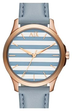See more. AX Armani Exchange Stripe Dial Leather Strap Watch, 36mm  available at  Nordstrom Louis Vouitton ffe7399d009
