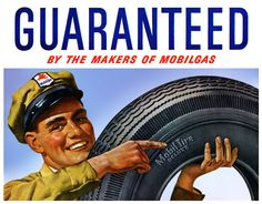 vintage mid century modern  ads | Mobilgas Mobil Tires ...