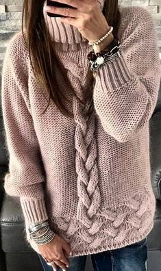 44 Knitted Women Sweaters Trending Now sweaters for women knitwear 44 Knitted Women Sweaters Trending Now - Fashion New Trends Knitting Designs, Knitting Patterns, Crochet Patterns, Trending Now Fashion, Handgestrickte Pullover, Knit Fashion, Modest Fashion, Fashion 2018, Fashion Outfits