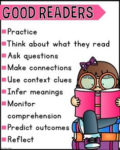 Inside you will find a free classroom poster to remind your students about a few qualities of a good reader.  Girl and boy included!Thank you!
