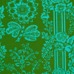 LAMINATED cotton fabric aka oil cloth Happy Land by Laminates, $16.50