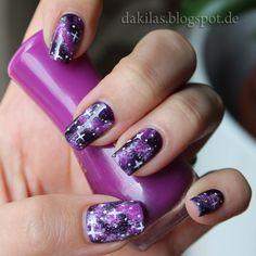 Dakila´s NailBlog - Violet Galaxy Nails