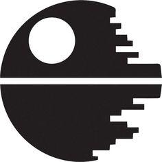 Items similar to Star Wars Death Star Silhouette Die-Cut Vinyl Sticker on Etsy