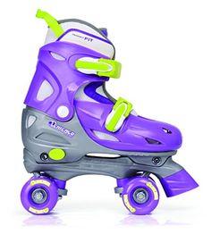 Children's Roller Skates - Chicago Skates Girls Adjustable Quad ToddlerLittle KidBig Kid PurpleSilver Roller Skates MD 1 Little Kid  4 Big Kid B  Medium ** Learn more by visiting the image link.