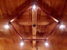 Wooden chandelier Wooden Chandelier, Track Lighting, Ceiling Lights, Home Decor, Timber Wood, Wood Chandelier, Decoration Home, Room Decor, Outdoor Ceiling Lights