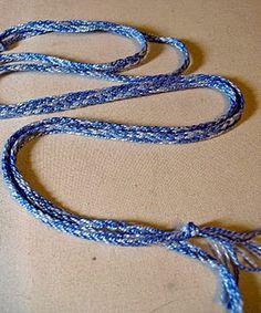 Basic finger loop braiding.
