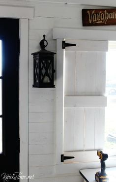 Farmhouse Wooden Shutters Make Your Own 2019 How to make diy farmhouse shutters using reclaimed wood pallet wood or pine. The post Farmhouse Wooden Shutters Make Your Own 2019 appeared first on Curtains Diy. Interior Window Shutters, Diy Shutters, Wooden Shutters Indoor, Inside Shutters For Windows, Cedar Shutters, Repurposed Shutters, Repurposed Furniture, Unique Home Decor, Home Decor Items