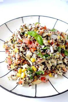 Healthy Mexican Quinoa Salad - Edu Foxy Quinoa Recipes Easy, Quinoa Salad Recipes, Veggie Recipes, Cooking Recipes, Healthy Recipes, Healthy Food, Veggie Food, Healthy Life, Diet Recipes