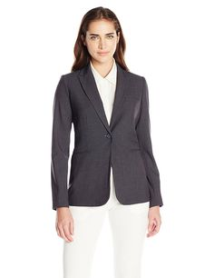 Calvin Klein Women's Single-Button Suit Jacket >>> This is an Amazon Affiliate link. Check out the image by visiting the link.