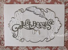 Blog tonic: Beautiful new die release - card from RUTH