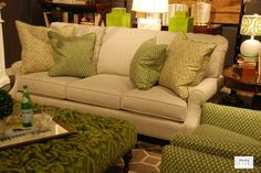 I adore this classic three cushion sofa - our best seller at Nell Hill's. It will never go out of style.