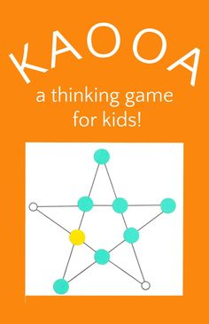 Fun thinking game for kids to practice important strategy and math skills. Kaooa is a two player traditional abstract strategy hunt game from India. Also known as Vulture and Crows, 7 crow tokens battle against one vulture token. Fun Math, Math Games, Learning Activities, Kids Learning, Activities For Kids, Kid Games, Steam Activities, Therapy Activities, Family Game Night